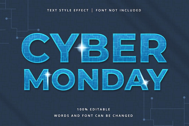 Bearbeitbarer cyber monday-texteffekt