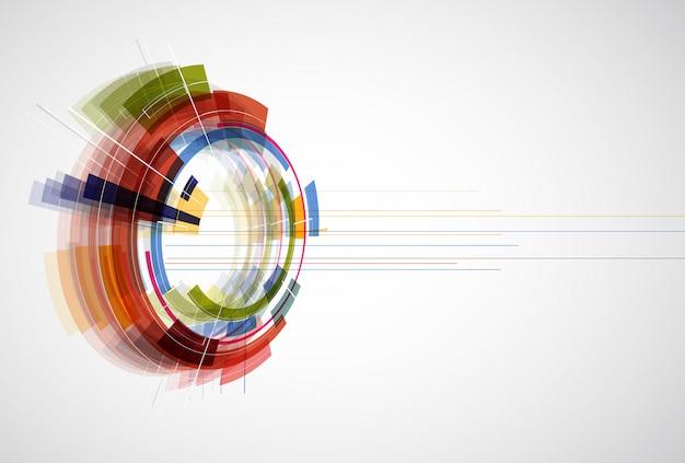 Bearbeitbarer dynamischer hintergrund der abstrakten hellen technologie