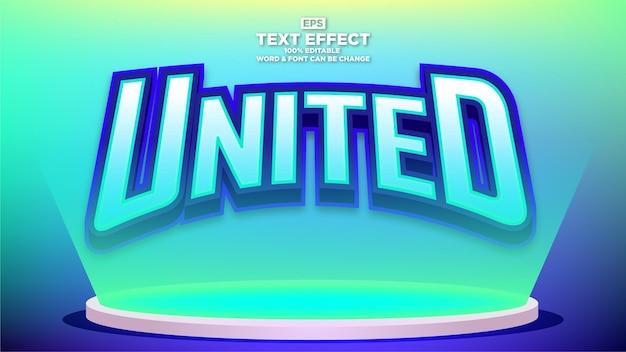 Bearbeitbarer e-sport-texteffekt mit farbverlaufshintergrund
