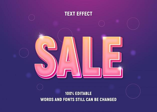 Bearbeitbarer gelber text über verkauf mit verlaufseffekt.