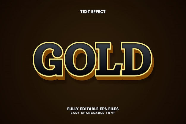 Bearbeitbarer gold-texteffektvektor