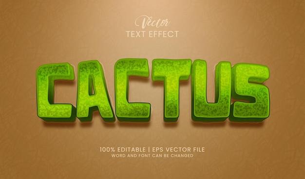 Bearbeitbarer kaktus-texteffektstil