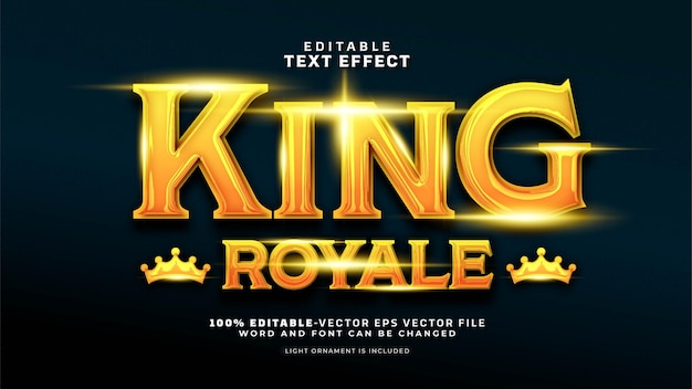 Bearbeitbarer king royal-texteffekt
