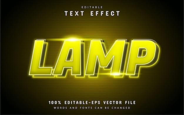 Bearbeitbarer lampentexteffekt
