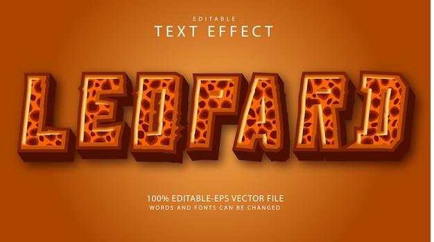 Bearbeitbarer leoparden-texteffekt