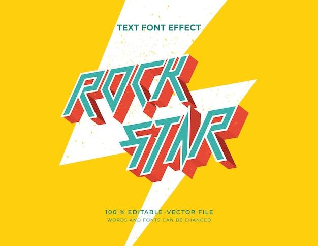 Bearbeitbarer rockstar font-effekt im vintage-stil