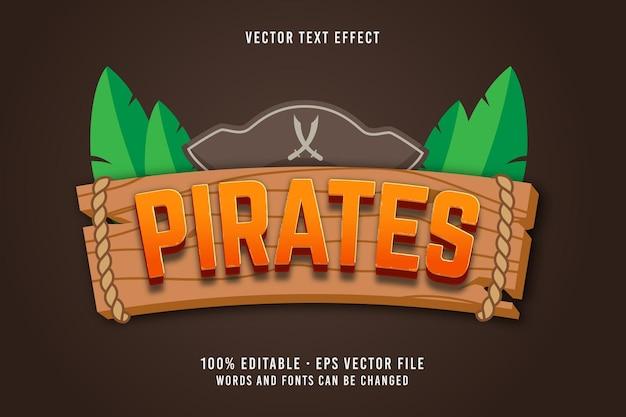 Bearbeitbarer schrifteffekt des piratentextes