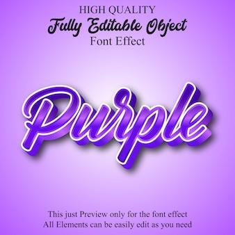 Bearbeitbarer schrifteffekt für lila hochglanzskripte