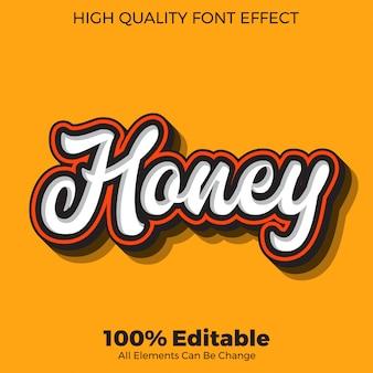 Bearbeitbarer schrifteffekt im honig-skript-textstil