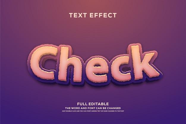 Bearbeitbarer schrifteffekt im textstil