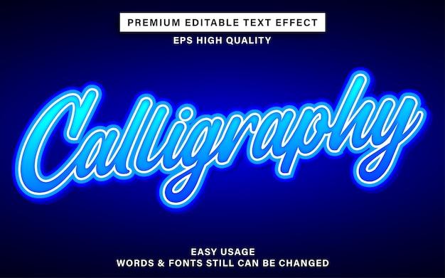 Bearbeitbarer schrifteffekt - kalligraphie