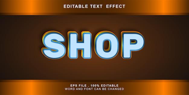 Bearbeitbarer shop mit texteffekt