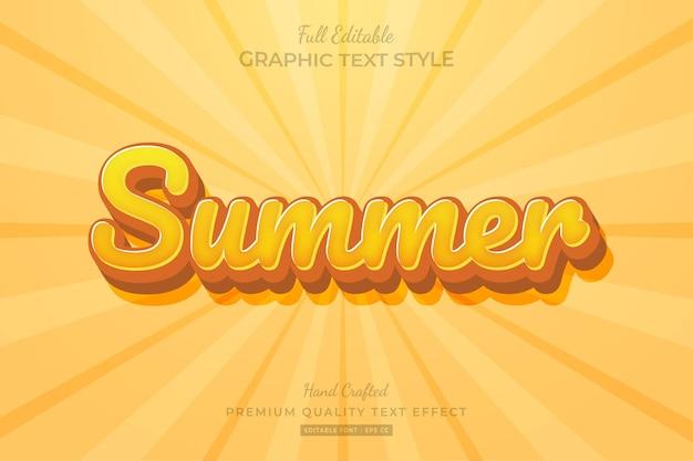 Bearbeitbarer sommer-premium-texteffekt