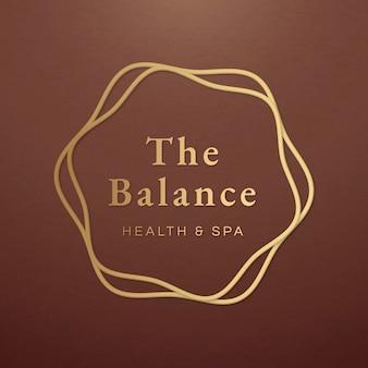 Bearbeitbarer spa-logo-vorlagenvektor für gesundheit und wellness
