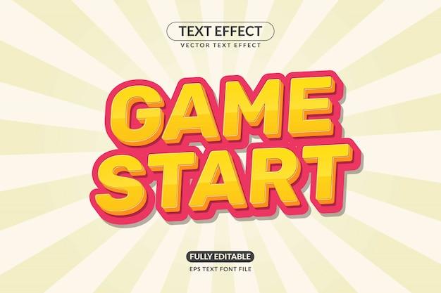 Bearbeitbarer spielstart-texteffekt