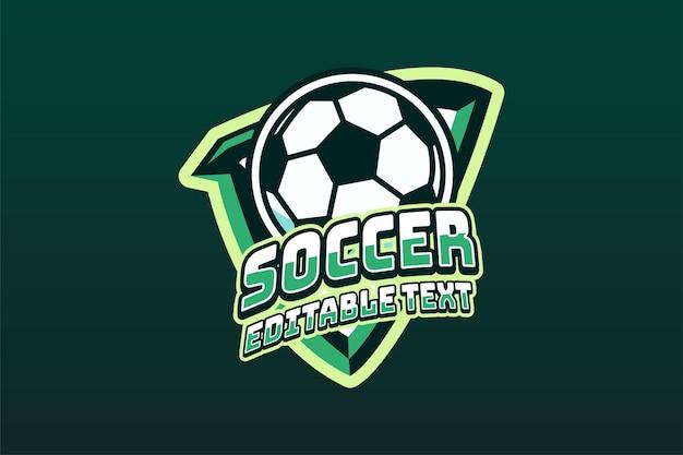 Bearbeitbarer text des fußballmaskottchen-logos