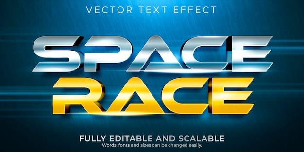 Bearbeitbarer text-effekt-space-race-textstil