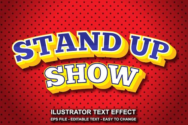 Bearbeitbarer text-effekt-stand-up-show-stil