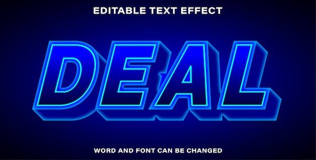 Bearbeitbarer text-effekt-stil-deal