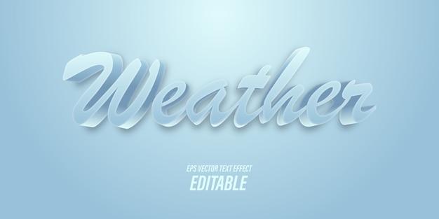 Bearbeitbarer text mit 3d-effekten mit kälte- und winterthemen