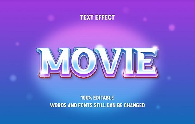 Bearbeitbarer text über den modernen filmstil mit verlaufseffekt.