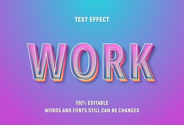 Bearbeitbarer text über wort mit verlaufseffekt.
