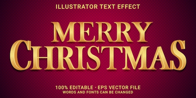 Bearbeitbarer texteffekt 3d - frohe weihnachten