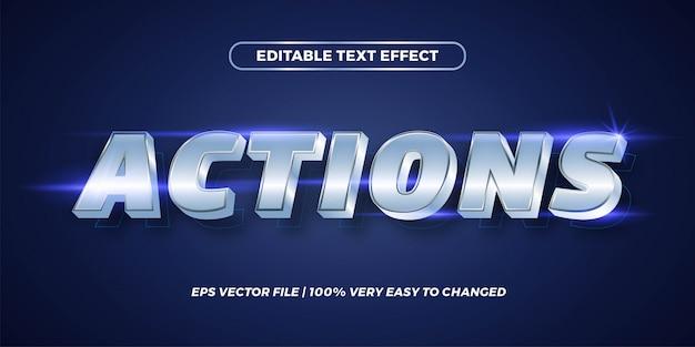Bearbeitbarer texteffekt - aktionen im textstilkonzept