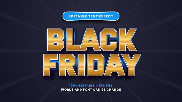 Bearbeitbarer texteffekt am schwarzen freitag im modernen 3d-stil