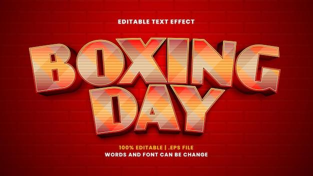 Bearbeitbarer texteffekt am zweiten weihnachtstag im modernen 3d-stil