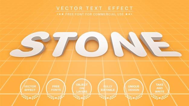 Bearbeitbarer texteffekt aus 3d-extrudierstein, schriftstil