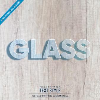 Bearbeitbarer texteffekt aus transparentem kristallglas