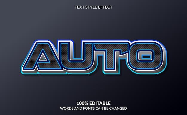 Bearbeitbarer texteffekt auto mobile text style