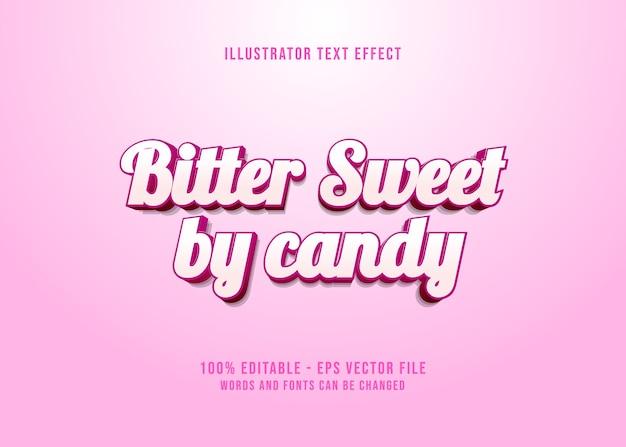 Bearbeitbarer texteffekt bitter süß von candy pink