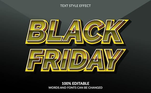 Bearbeitbarer texteffekt, black friday text style