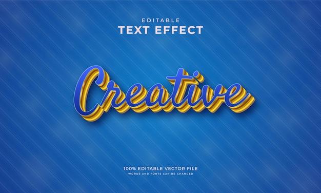 Bearbeitbarer texteffekt blau kreativer stil
