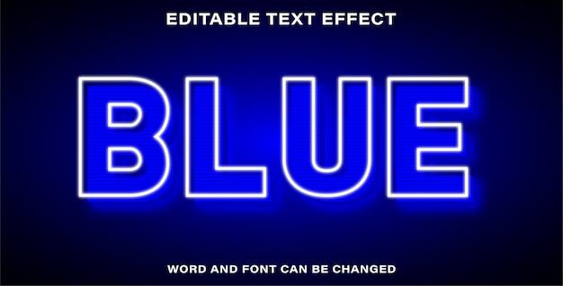 Bearbeitbarer texteffekt - blau
