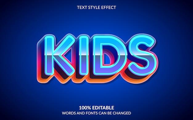 Bearbeitbarer texteffekt, bunter kindertextstil