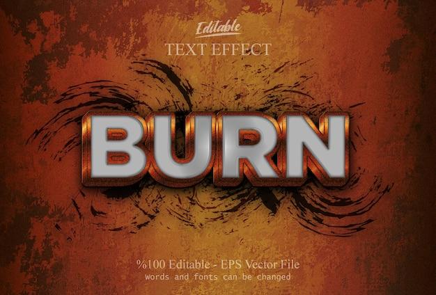 Bearbeitbarer texteffekt burn