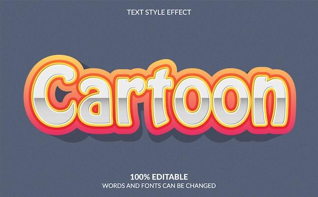 Bearbeitbarer texteffekt cartoon-textstil