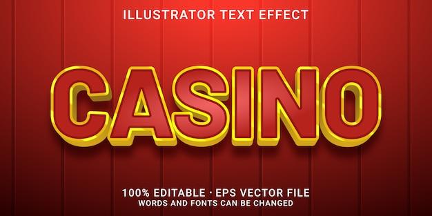 Bearbeitbarer texteffekt - casino-stil