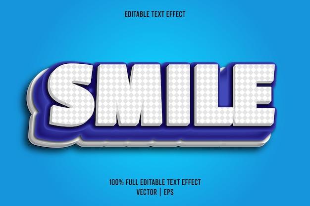 Bearbeitbarer texteffekt-comic-stil des lächelns