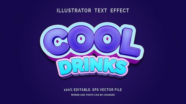 Bearbeitbarer texteffekt cool drinks style
