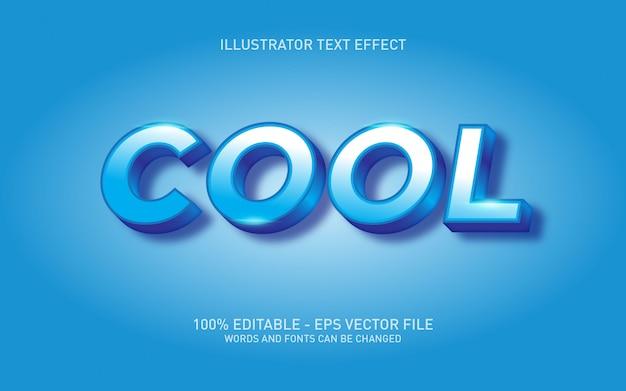 Bearbeitbarer texteffekt, coole stilillustrationen