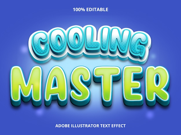 Bearbeitbarer texteffekt - cooling master-titelstil