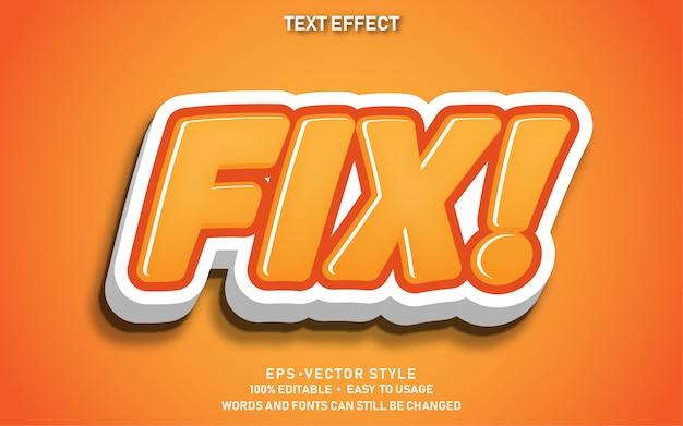 Bearbeitbarer texteffekt cute fix