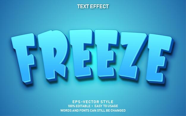 Bearbeitbarer texteffekt cute freeze