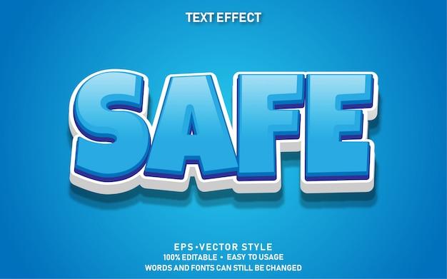 Bearbeitbarer texteffekt cute safe