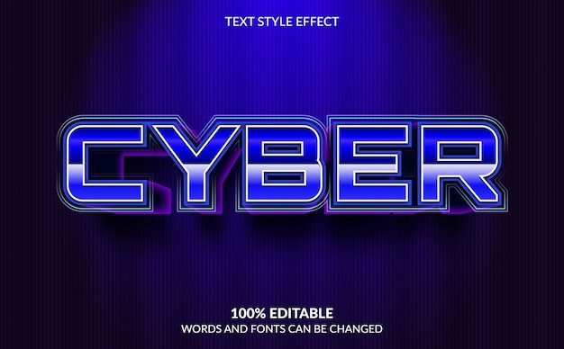Bearbeitbarer texteffekt, cyber-textstil