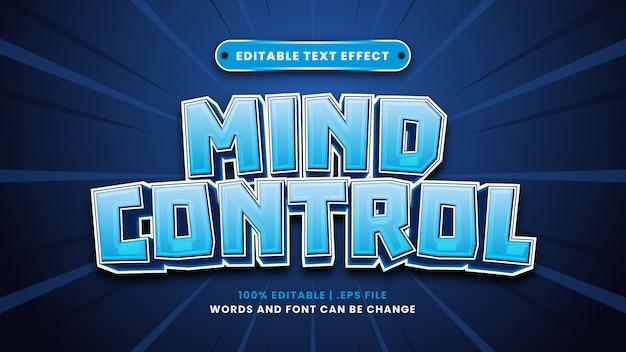 Bearbeitbarer texteffekt der gedankenkontrolle im modernen 3d-stil